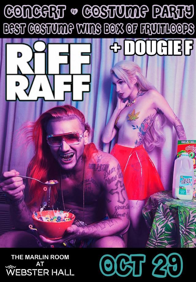 dougie f riff raff webster hall 10.29