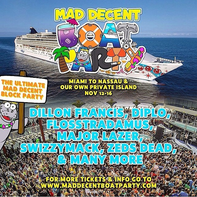 mad decent boat party 2014