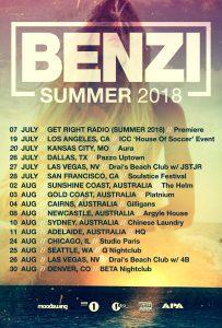 Benzi 2018 Tour Flyer